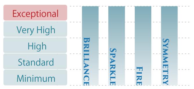 4種類の輝きを科学的に分析し、5段階